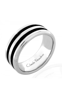 Claude Thibaudeau Black Hevea Men's Wedding Band PLT-1657-H product image