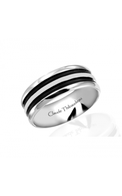 Claude Thibaudeau Black Hevea Women's Wedding Band PLT-1570-F product image