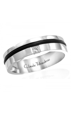 Claude Thibaudeau Black Hevea Men's Wedding Band PLT-1641-H product image