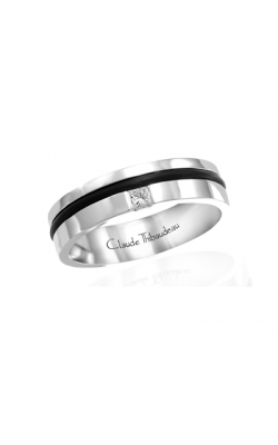 Claude Thibaudeau Black Hevea Women's Wedding Band PLT-1641-F product image