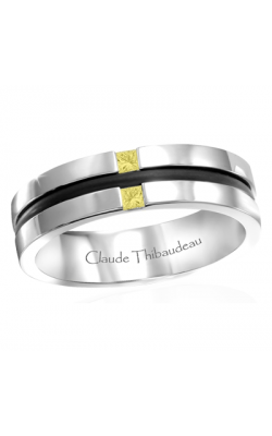 Claude Thibaudeau Black Hevea Men's Wedding Band PLT-1665-H product image
