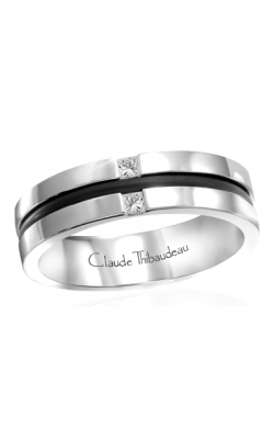 Claude Thibaudeau Black Hevea Men's Wedding Band PLT-1637-H product image