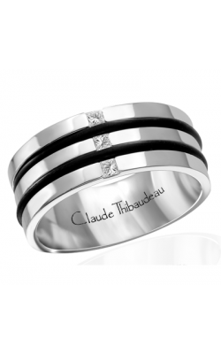 Claude Thibaudeau Black Hevea Men's Wedding Band PLT-1640-H product image