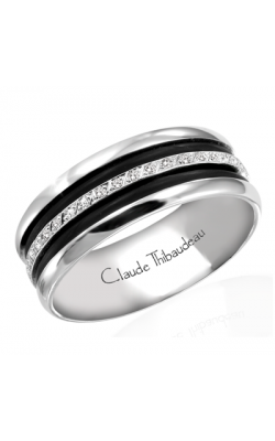 Claude Thibaudeau Black Hevea Men's Wedding Band PLT-1585-H product image