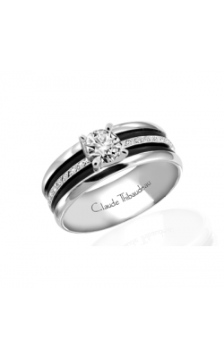 Claude Thibaudeau Black Hevea Women's Wedding Band PLT-1585-F product image