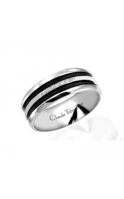 Claude Thibaudeau Black Hevea Women's Wedding Band PLT-1587-F product image