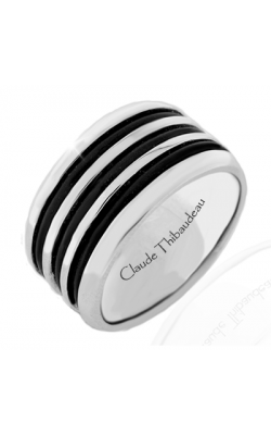 Claude Thibaudeau Black Hevea Men's Wedding Band PLT-1573-H product image