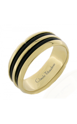 Claude Thibaudeau Black Hevea Men's Wedding Band PLT-2586-H product image