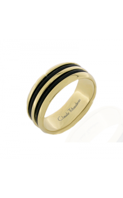Claude Thibaudeau Black Hevea Women's Wedding Band PLT-2586-F product image