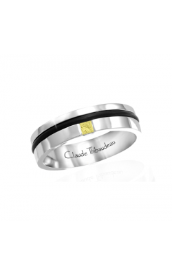 Claude Thibaudeau Black Hevea Women's Wedding Band PLT-1664-F product image