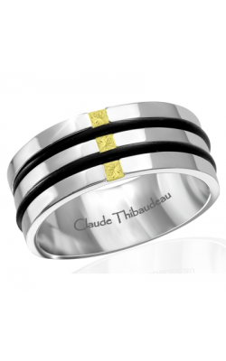 Claude Thibaudeau Black Hevea Men's Wedding Band PLT-1663-H product image