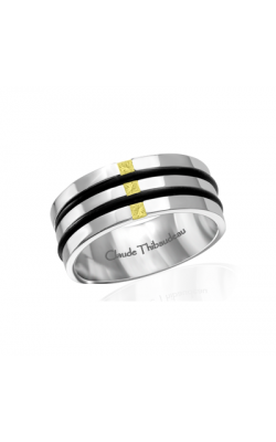 Claude Thibaudeau Black Hevea Wedding Band PLT-1663-F product image