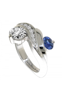Claude Thibaudeau Colored Stone Engagement ring PLT-1852 product image