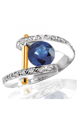 Claude Thibaudeau Colored Stone Engagement ring PLT-1666 product image