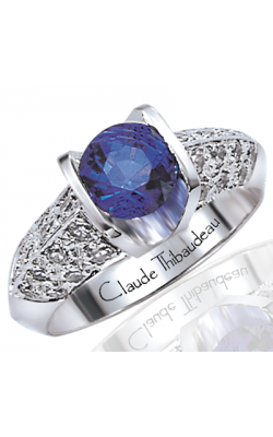 Claude Thibaudeau Colored Stone Engagement Ring PLT-194 product image