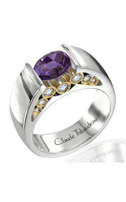 Claude Thibaudeau Colored Stone Engagement Ring PLT-1258 product image