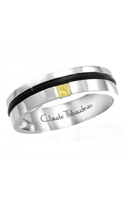 Claude Thibaudeau Colored Stone Men's Wedding Band PLT-1664-H product image