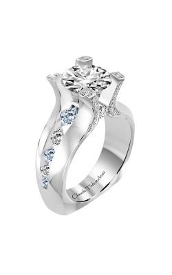 Claude Thibaudeau La Royale Engagement Ring PLT-10193-MP-BDT product image