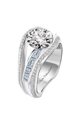 Claude Thibaudeau Just Released Engagement Ring PLT-10203-MP-BDT product image