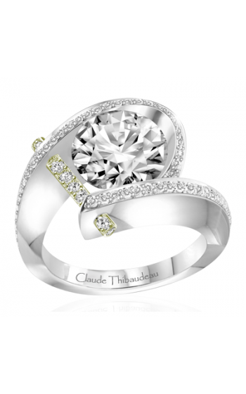 Claude Thibaudeau Pure Perfection Engagement Ring PLT-1831V-MP product image