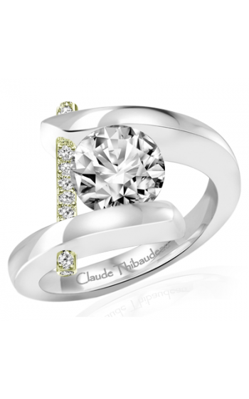 Claude Thibaudeau Pure Perfection Engagement Ring PLT-165V-MP product image
