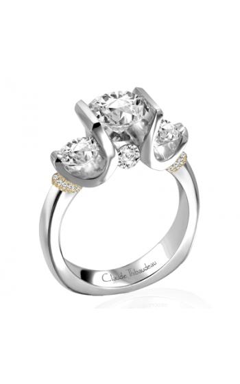 Claude Thibaudeau European Micro-Pave Engagement ring PLT-1858-MP product image