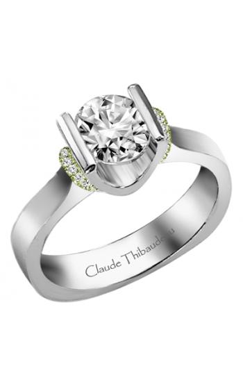 Claude Thibaudeau European Micro-Pave Engagement Ring PLT-1859V-MP product image