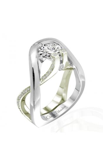 Claude Thibaudeau European Micro-Pave Engagement ring PLT-1884V-MP product image
