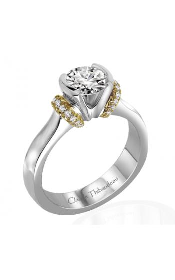 Claude Thibaudeau European Micro-Pave Engagement ring PLT-1864-MP product image
