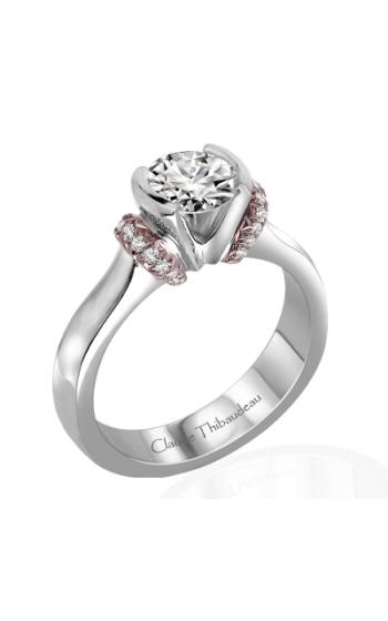Claude Thibaudeau European Micro-Pave Engagement ring PLT-1864R-MP product image