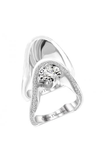 Claude Thibaudeau European Micro-Pave Engagement ring PLT-1878-MP product image