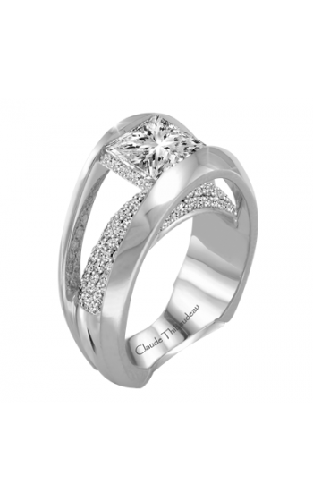 Claude Thibaudeau European Micro-Pave Engagement ring PLT-1883-MP product image