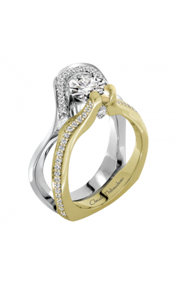 Claude Thibaudeau European Micro-Pave Engagement ring PLT-2904-MP product image