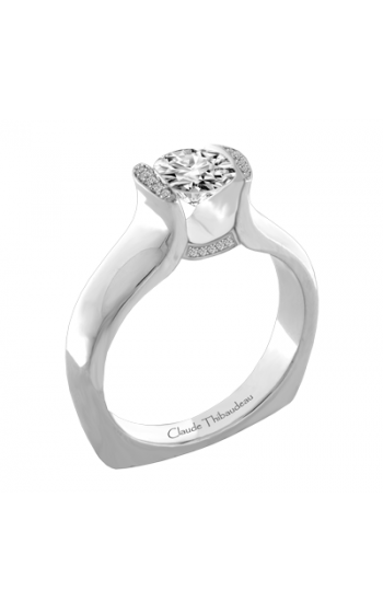 Claude Thibaudeau European Micro-Pave Engagement ring PLT-1919-MP product image