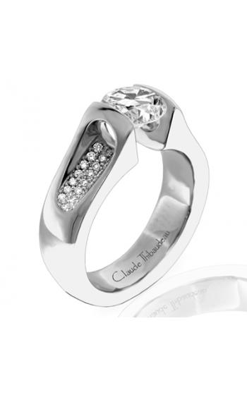 Claude Thibaudeau European Micro-Pave Engagement Ring PLT-1062-MP product image