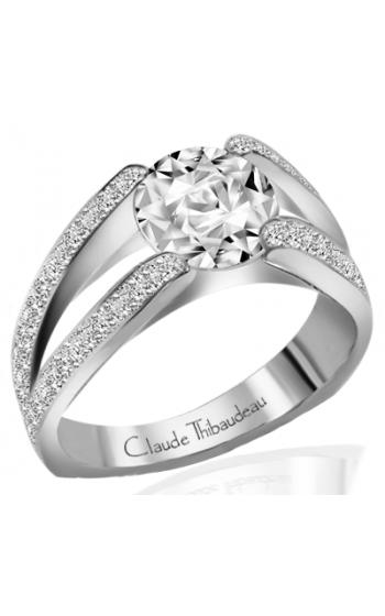 Claude Thibaudeau European Micro-Pave Engagement ring PLT-1196-MP product image