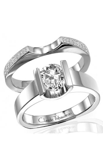 Claude Thibaudeau European Micro-Pave Engagement ring PLT-1311 product image