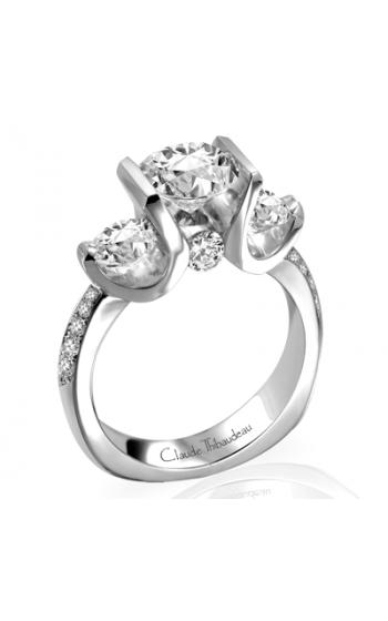 Claude Thibaudeau European Micro-Pave Engagement Ring PLT-1645-MP product image