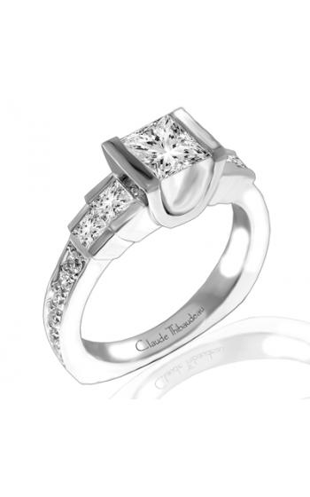 Claude Thibaudeau European Micro-Pave Engagement ring PLT-1769-MP product image