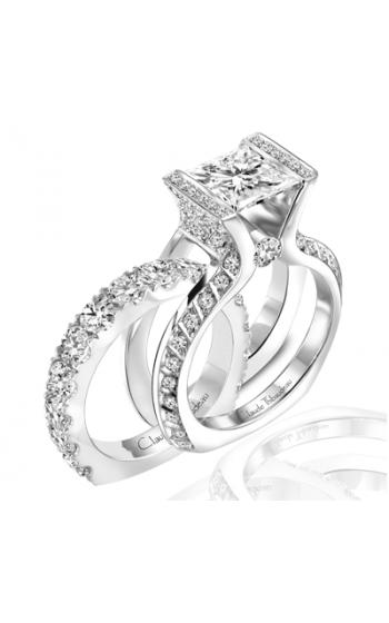 Claude Thibaudeau European Micro-Pave Engagement ring PLT-1772-MP product image