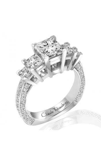 Claude Thibaudeau European Micro-Pave Engagement ring PLT-1806-MP product image