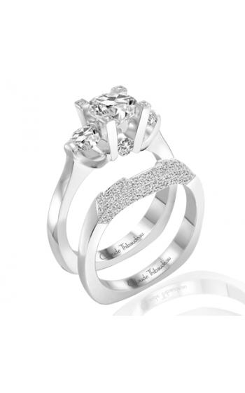 Claude Thibaudeau European Micro-Pave Engagement Ring PLT-1814 product image
