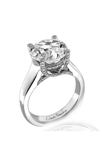 Claude Thibaudeau European Micro-Pave Engagement ring PLT-1817-MP product image