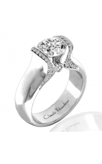 Claude Thibaudeau European Micro-Pave Engagement ring PLT-1839-MP product image