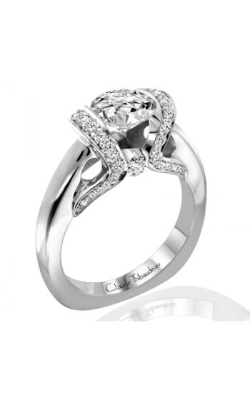 Claude Thibaudeau European Micro-Pave Engagement Ring PLT-1854-MP product image