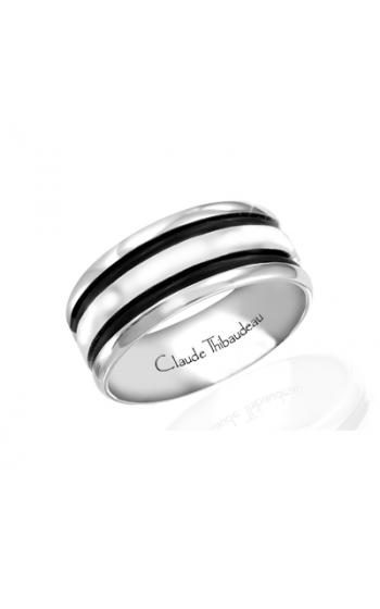Claude Thibaudeau Black Hevea Women's Wedding Band PLT-1642-F product image
