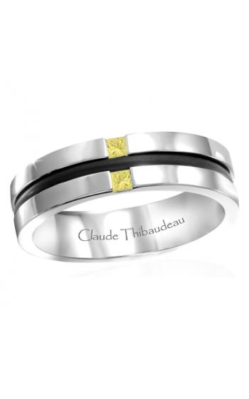 Claude Thibaudeau Black Hevea Wedding band PLT-1665-H product image