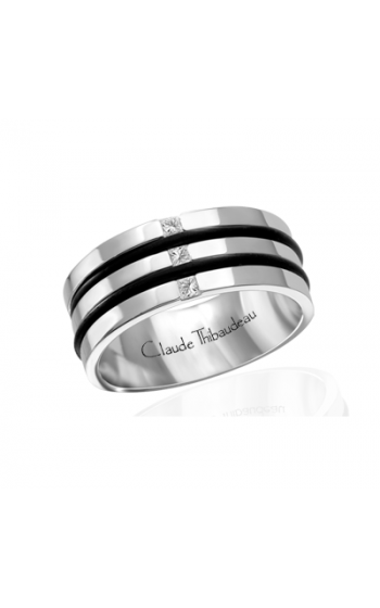 Claude Thibaudeau Black Hevea Women's Wedding Band PLT-1640-F product image