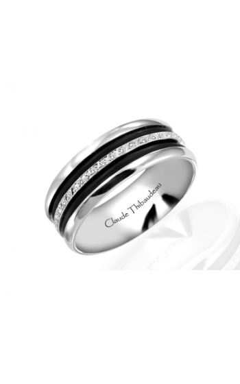 Claude Thibaudeau Black Hevea Women's Wedding Band PLT-1566-F product image