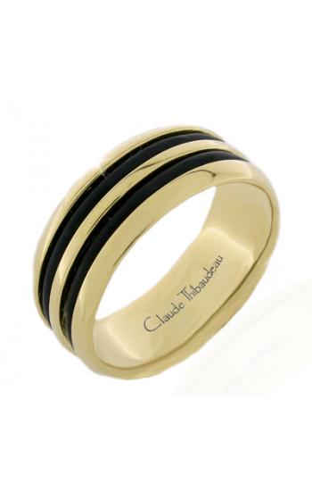 Claude Thibaudeau Black Hevea Men's Wedding Band PLT-2586-H product image